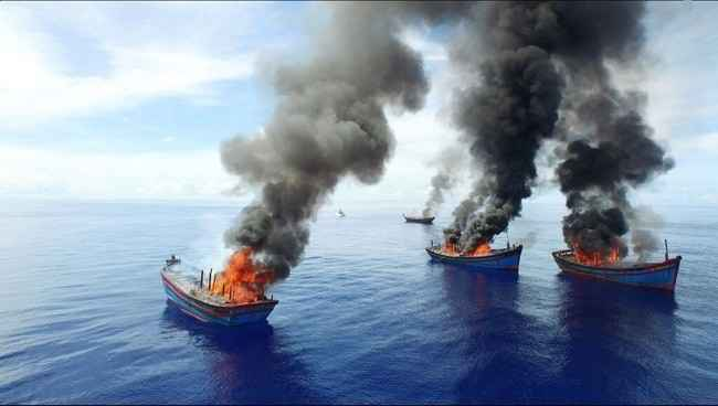 Resultat d'imatges de quemar los barcos